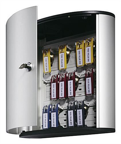 Key Cabinet Silver Fixture Locking Door Amp 18 Hooks