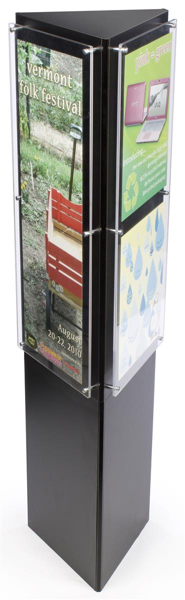Three Sided Poster Holder & Advertisement Stand