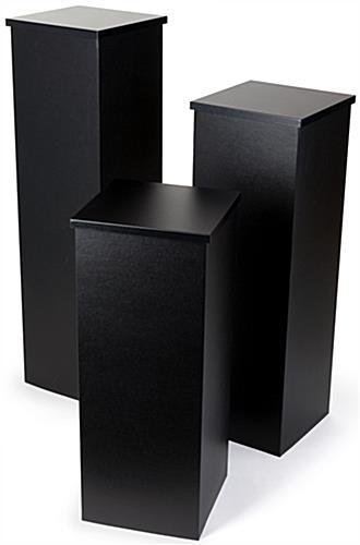 Cardboard Pedestal Set Set Of 3 Portable Stands
