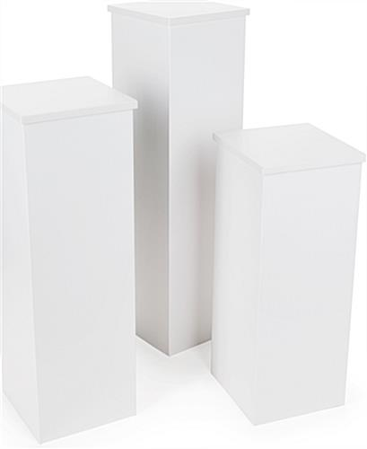 "12.5"" Wide Set of Cardboard Pedestals"