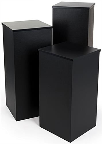 "15.5"" Wide Black Pedestal Set"