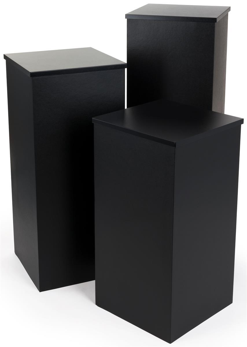 Portable Pedestal Set 3 Knock Down Stands
