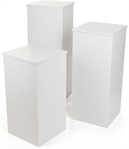 "15.5"" Wide Set of (3) Pedestals"
