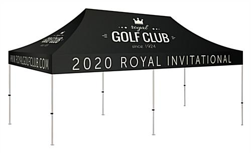 10x20 pop up event canopy with printing available on all sides