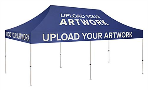 10 x 20 customized canopy for pop up tent with printing on all sides