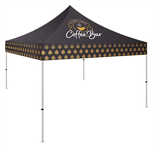 Small event tent with high quality printing on all sides