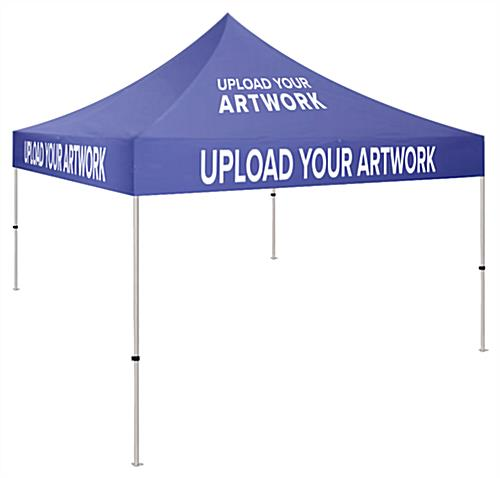 Small event tent with 5 x 5 aluminum frame