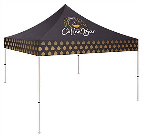 Custom printed 10x10 canopy with dye-sublimation printed graphics