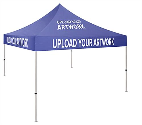 Custom printed 10x10 canopy with full color graphics