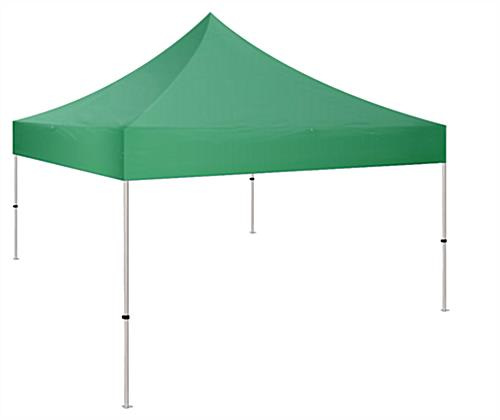 10x10 pop up canopy tent with green polyester material
