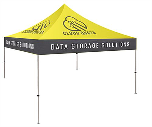 10 x 10 custom event tent with transport bag with wheels for transport
