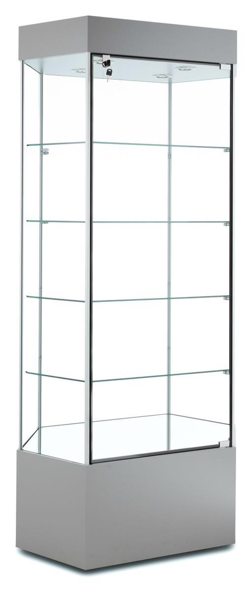 "Tecno Display 35"" Hexagonal Display Case w/ Mirror Deck, ..."