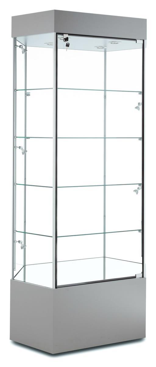 "Tecno Display 35"" Hexagonal Display Case w/ Hinged Door, ..."