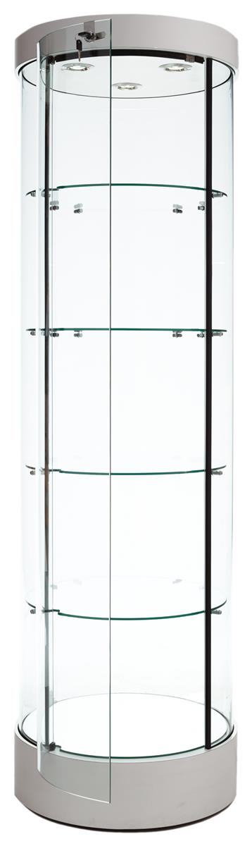 "Tecno Display 22"" Round Display Case w/ Top Light, Lockin..."