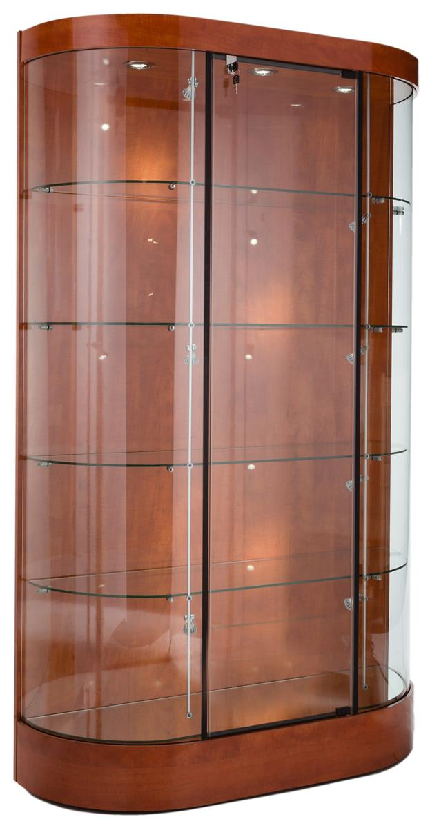 Glass Display Cabinet Showcases: These Wood And Glass Trophy Cases For Sale Are Quick Ship