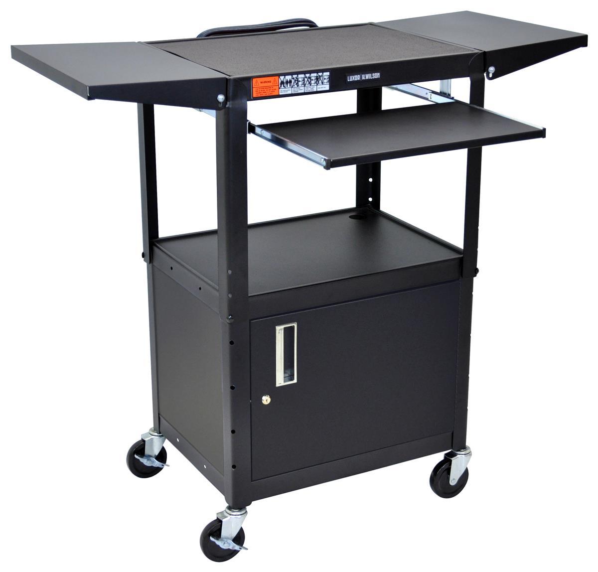 Av Carts W Locking Media Cabinet Amp Shelves That Fold Up