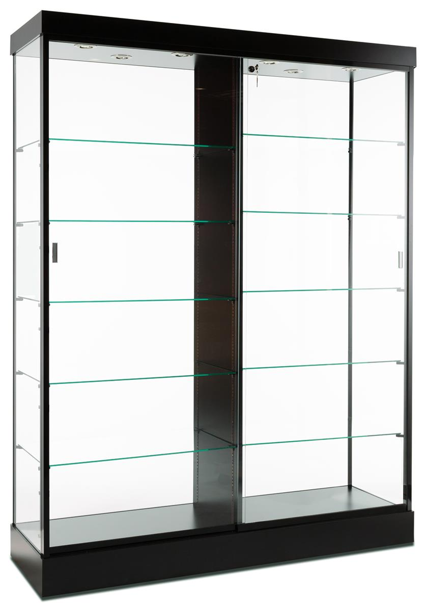 Display Cabinets Black Finish Top