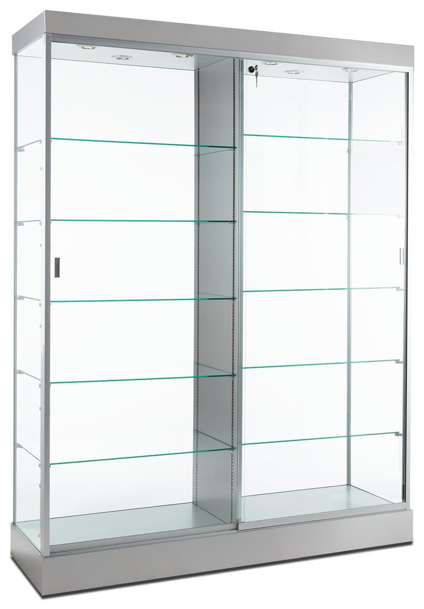 Retail Display Case Silver Finish