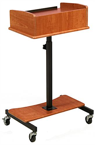 Height Adjustable Cherry Laptop Lectern