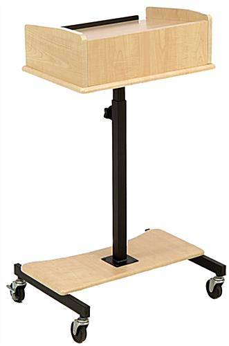 Height Adjustable Maple Laptop Lectern