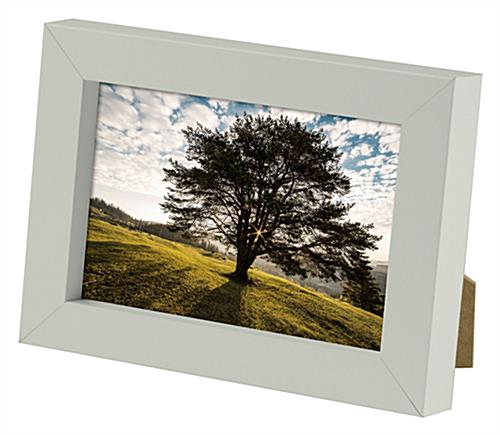 Wooden Frame With A White Finish Available In Two Different Sizes
