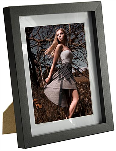Wood Picture Frame W Black Finish Amp Mat 6 Quot X 8 Quot