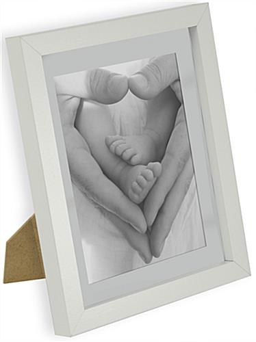 Wood Picture Frames 6 X 8 Matted White Enclosure