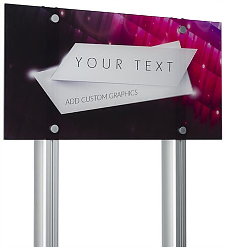 Custom Acrylic Frameless Wall Sign Compatible with LSQC28 Series