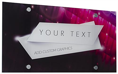 Custom Acrylic Frameless Wall Sign with Standoffs