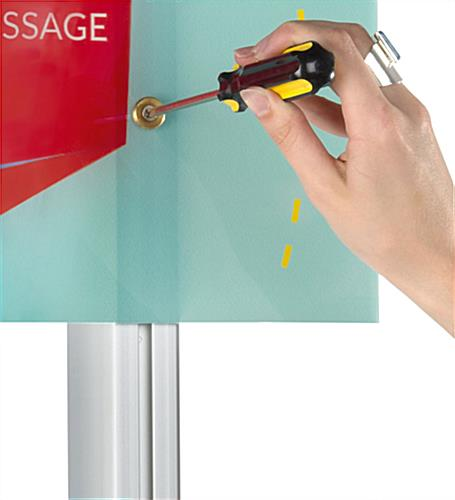 Custom Acrylic Panel Wall Sign Compatible with LSQC28 Series Posts
