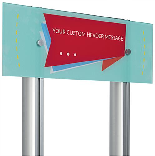 Custom Acrylic Panel Wall Sign Mounted to LSQC28 Series Posts