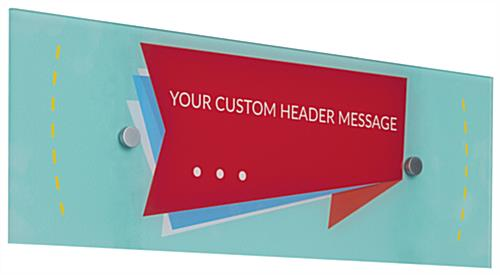 Custom Acrylic Panel Wall Sign with 2 Standoffs