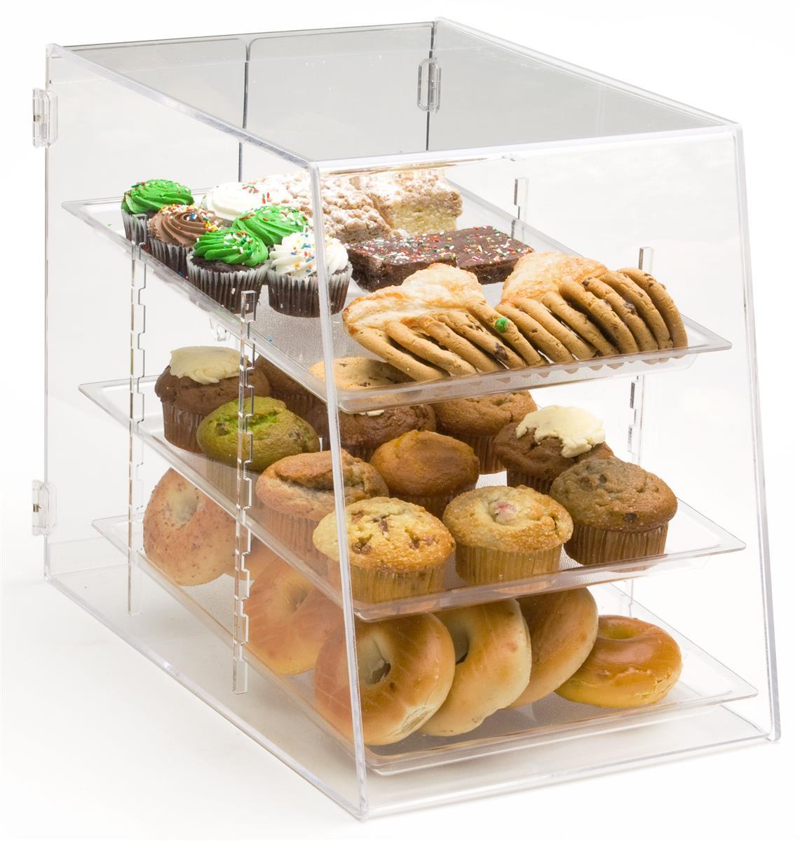 Displays2go Acrylic Food Display Case with (3) Trays