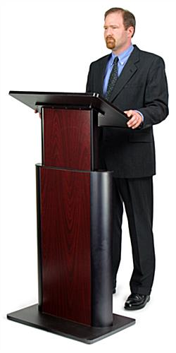 Contemporary Adjustable Height Lectern - Jewel Mahogany