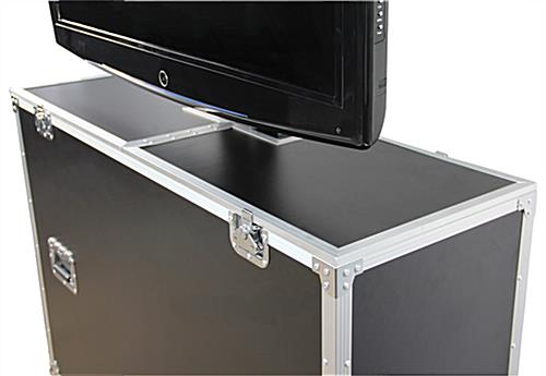 Tv Shipping Case Laminate Exterior With Electric Lift