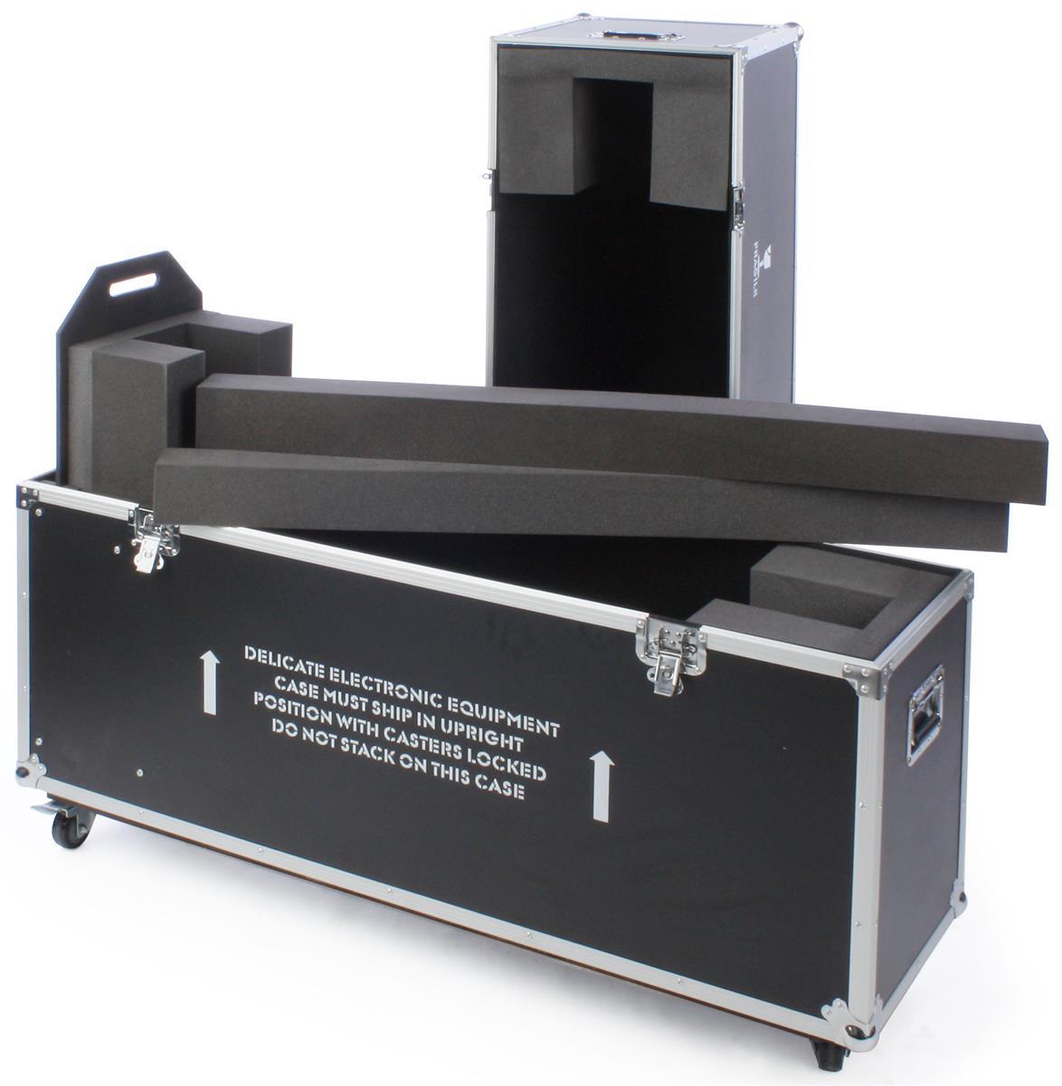 Displays2go TV Storage Case with Foam Interior for Monito...