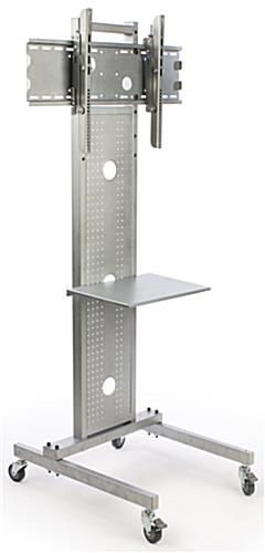 Silver Flat Screen Floor Stand