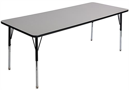 Height Adjustable Rectangular School Table