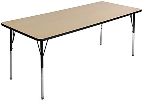 Height Adjustable Rectangular Activity Table