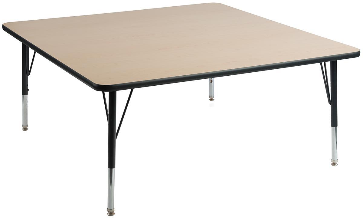 Square Classroom Table Maple Finish