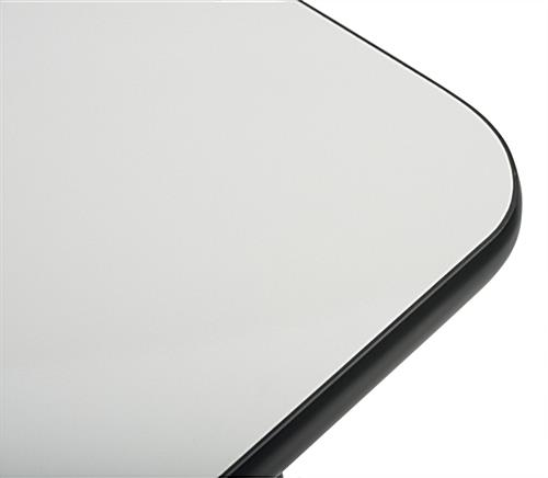 Square Whiteboard Table with Rounded Corners