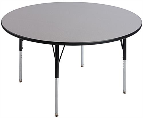 "Round School Table with 48"" Wide Top"