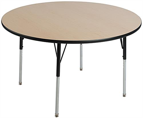 "Maple School Table with 48"" Diameter"