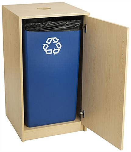 Recycling Containers for Cans and Bottles with Laminated Exterior