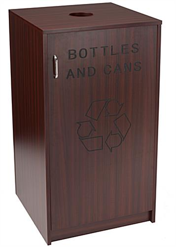 Hotel Recycling Receptacle with Swing Open Door
