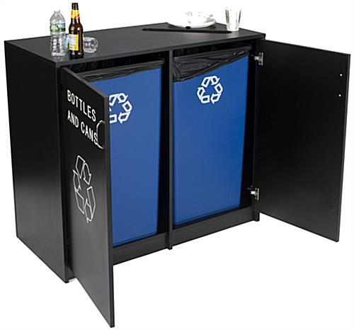 Recycle Receptacle with 2 Doors
