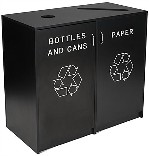 Recycle Receptacle with Engraved Message