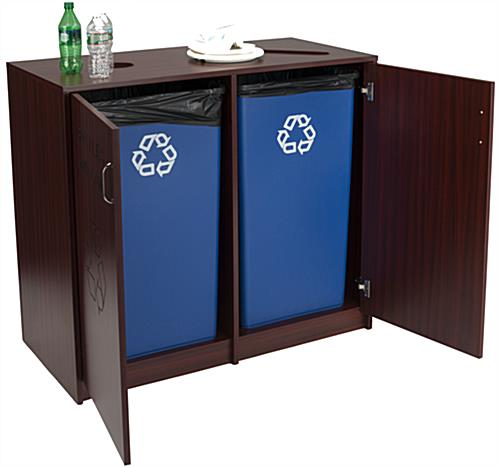 Recycling Office Bins with Two Doors
