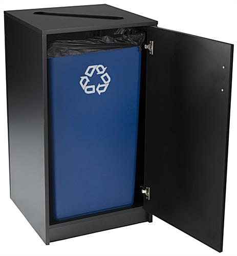 Black Recycling Unit Can Hold 36 Gallon Liner