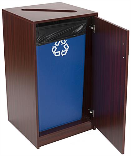36 Gallon Recycling Unit with Swing Open Door